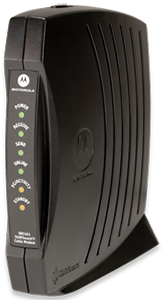 Image of standard cable modem